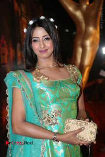 Actress Sanjjanaa Stills in Green Long Dress at Gemini TV Puraskaralu 2016 Event  0013.JPG