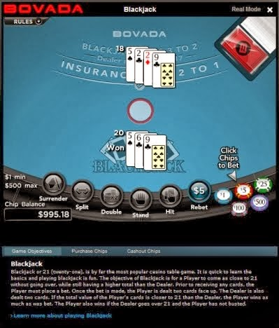 Video Blackjack Odds