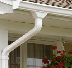 residential gutter and downspout