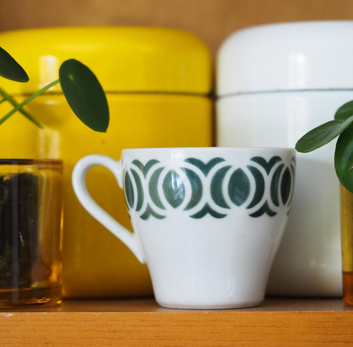 Arabia puhalluskoristeinen kahvikuppi