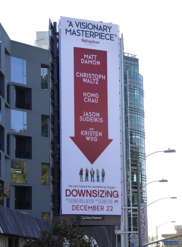 Downsizing vertical billboard