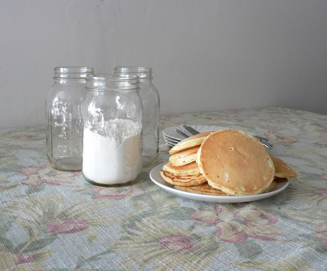 Pancakes from a Homemade Mix recipe