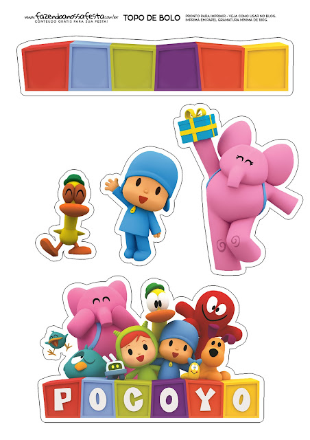 Pocoyo: Free Printable Cake Toppers.