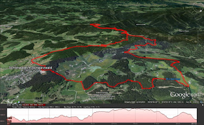 View of the hike route in Google Earth