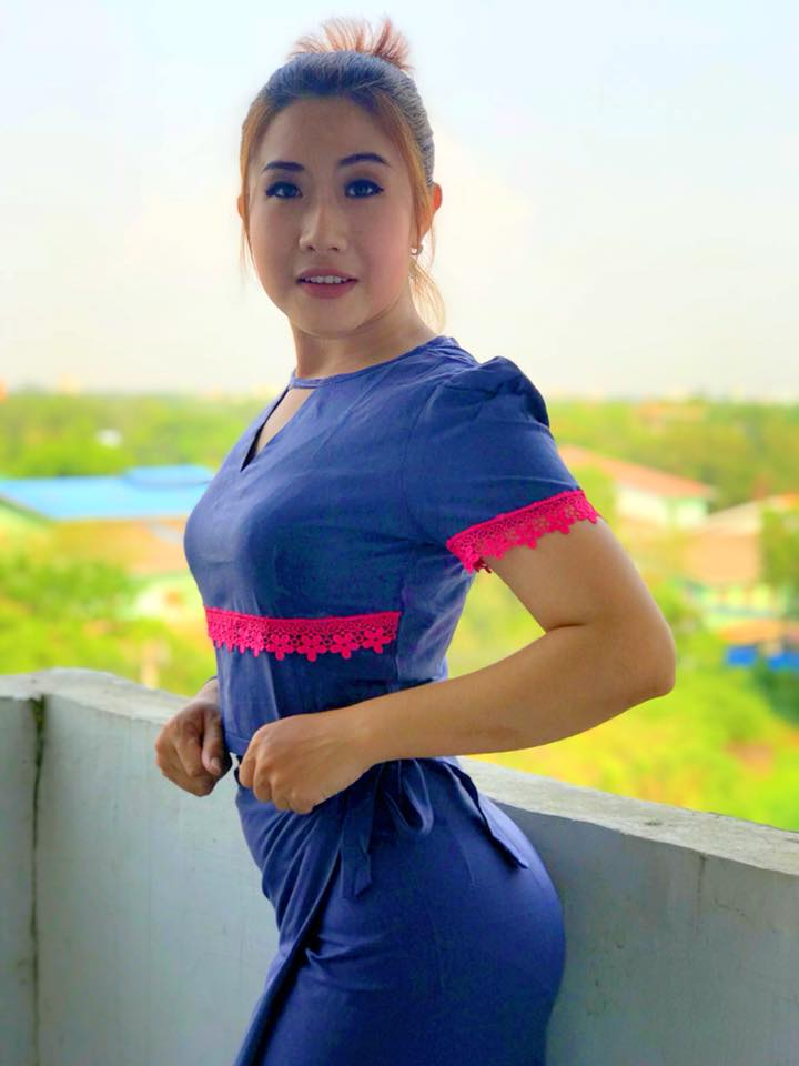 Trending hot Myanmar Model Nan Htaik Htar San in Myanmar