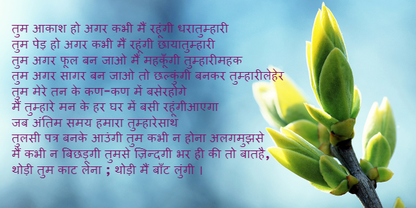 romantic love letter to girlfriend in hindi