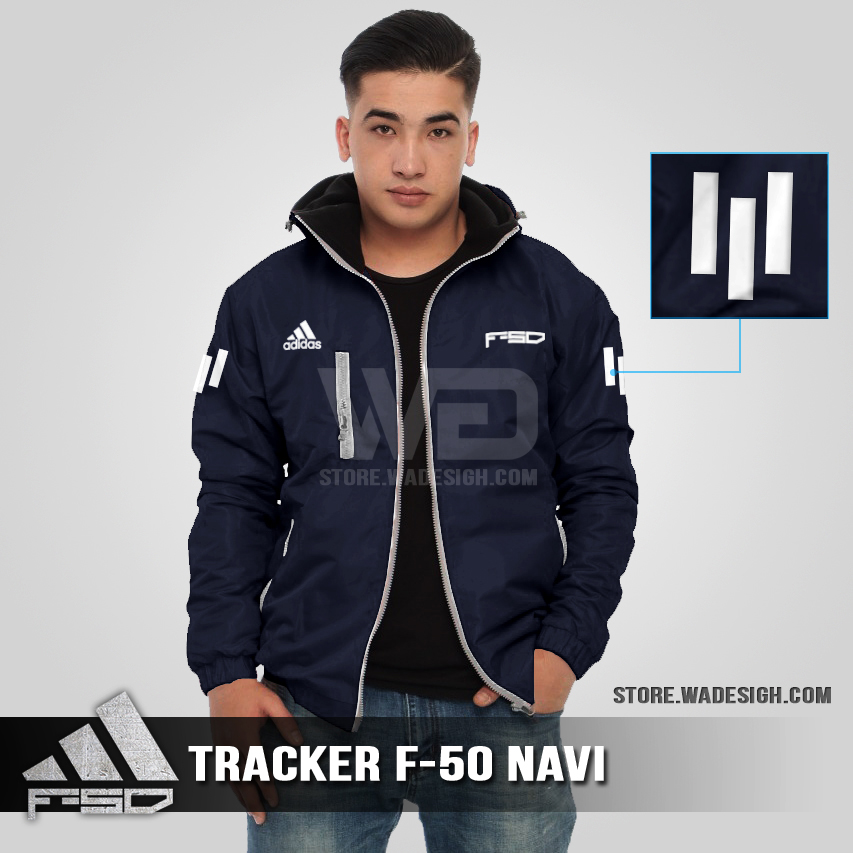 Jaket Tracker Waterproof Adidas F-50 Navi
