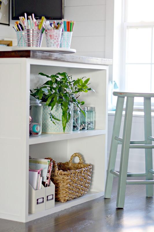 DIY bookcase under desk
