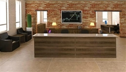 2 Person Reception Desks at OfficeFurnitureDeals.com