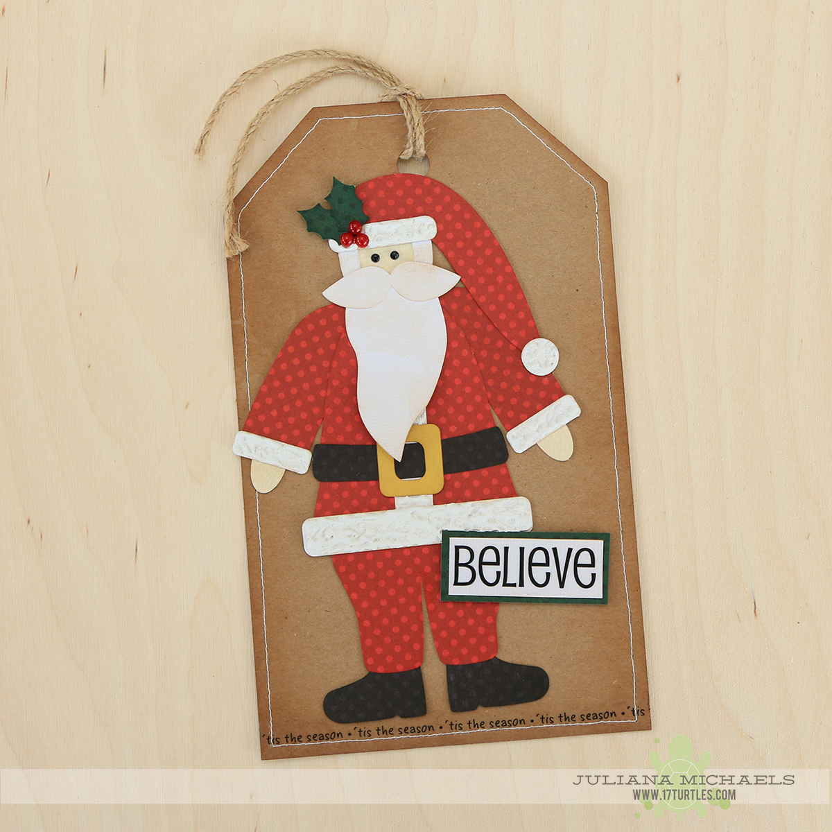 Santa Gift Tags using 17turtles Digital Cut Files by Juliana Michaels