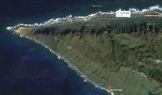 Map of Kaena Point Trail