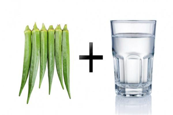 Okra beber agua y tratar la diabetes, el asma, colesterol y las enfermedades del riñón!