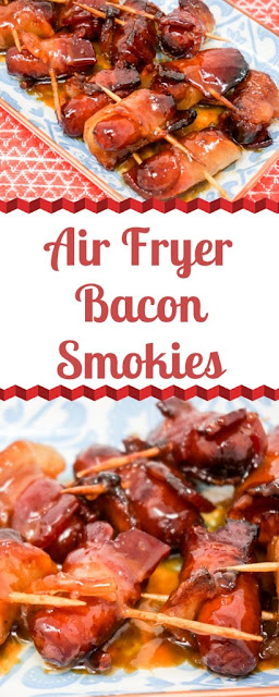 Air Fryer Bacon-Wrapped Smokies