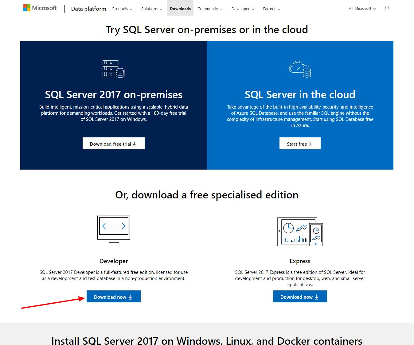 Download SQL Server 2017 - ASPMANTRA | Asp Net,MVC,AngularJs,Jquery