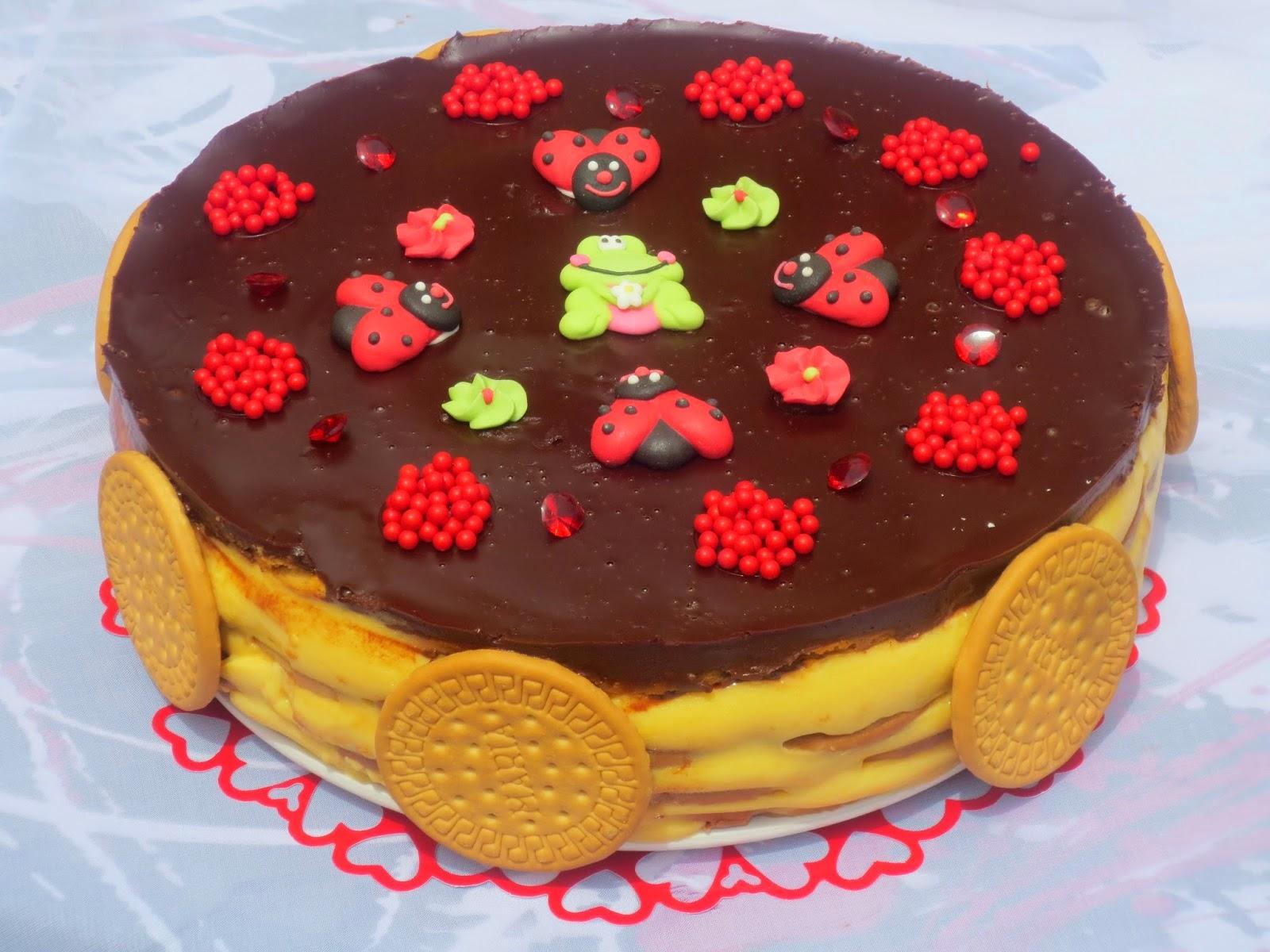Tarta de galletas y flan Ana Sevilla cocina tradicional