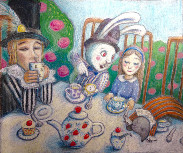 #Aide #Leit #Lepmets #AideLL #Madteaparty #madhatter #dormouse #alice #Marchhare #illustration #art