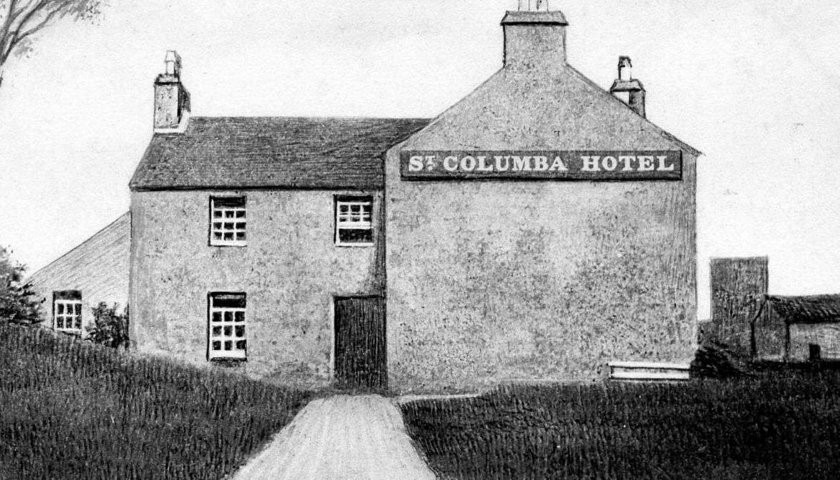 Old Photograph Of The Saint Columba Hotel On Island Iona Scotland Original Building Was Free Church Manse Constructed In 1846 And Occupied