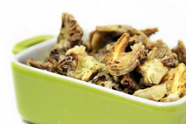 Receta para veganos Chips de alcachofa
