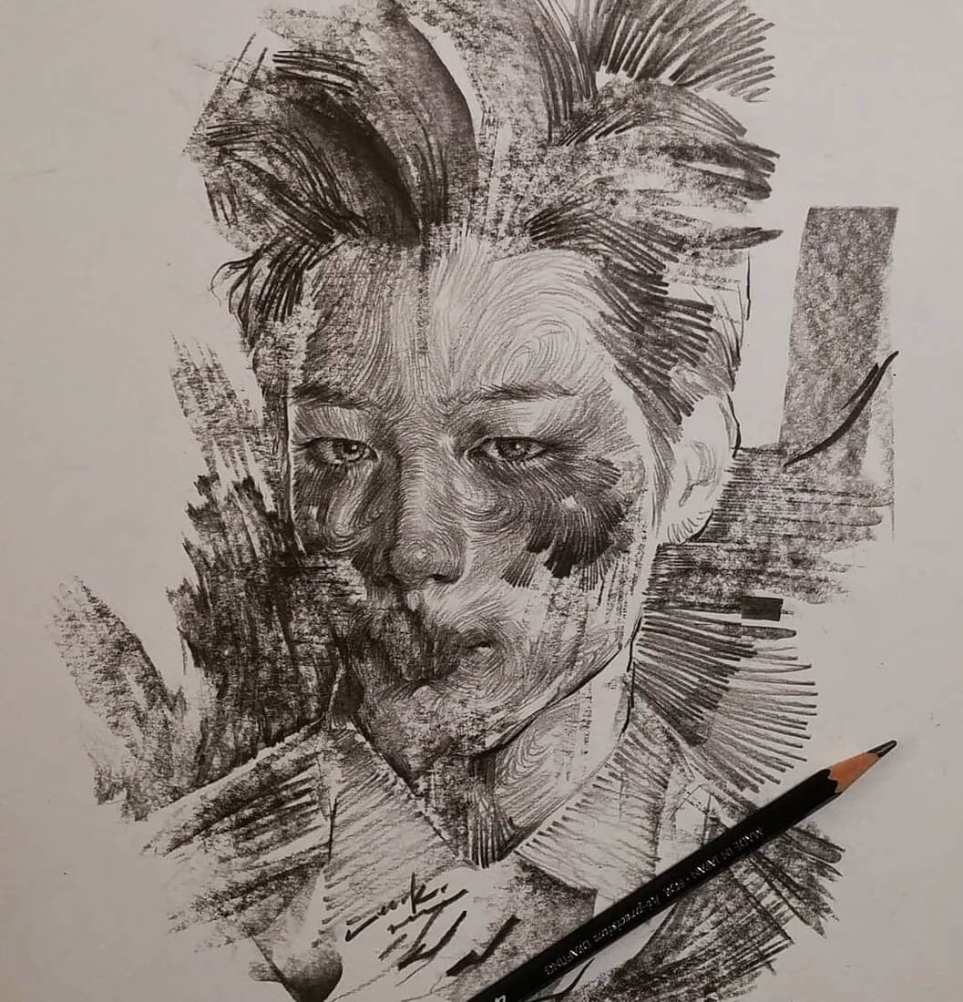 06-Lee-K-Lines-and-Swirls-Pencil-and-Charcoal-Portraits-www-designstack-co