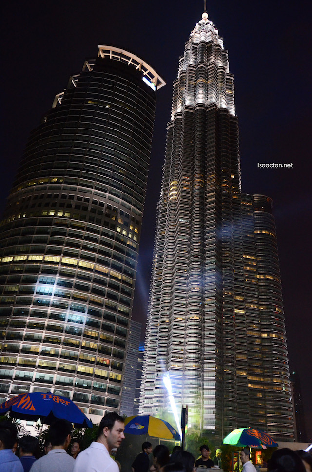 A shot I took that night of the majestic KLCC towers