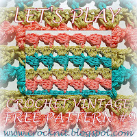 free crochet patterns, vintage, how to crochet, sideways