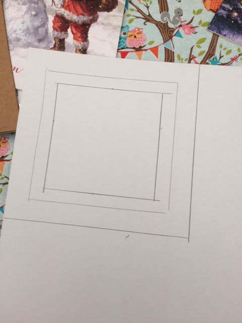 Making a frame with the coloured card