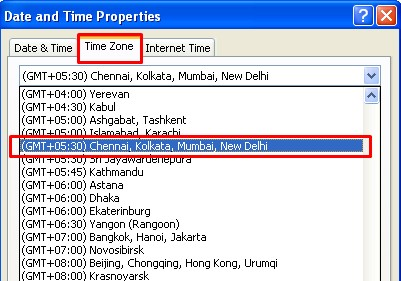 india time select