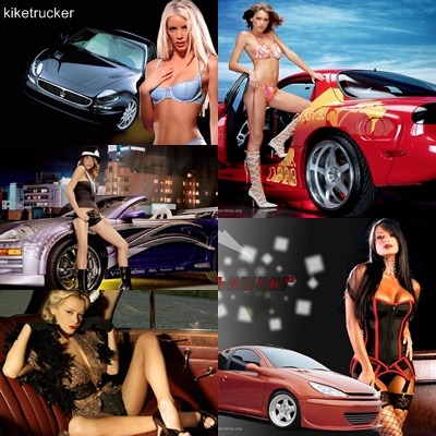 Wallpapers chicas y coches - Pack 2