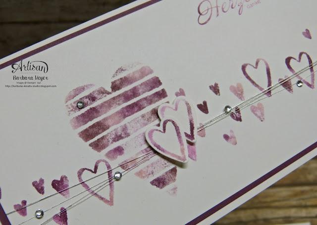 Heart Happiness - Schachtel voller Liebe - Baby Wipe Technik