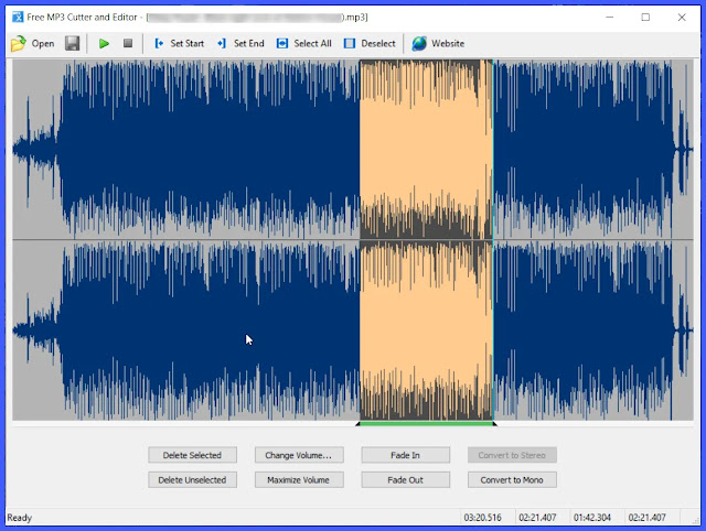Free MP3 Cutter and Editor : Κόψτε και επεξεργαστείτε