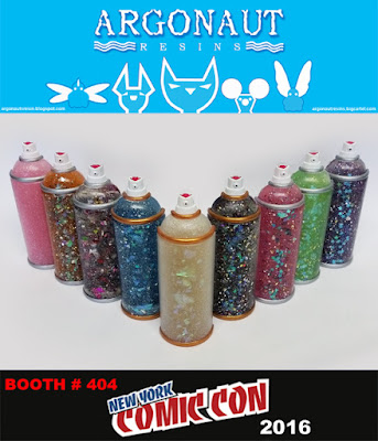New York Comic Con 2016 Exclusive Spray Paint Can Magnets by Argonaut Resins