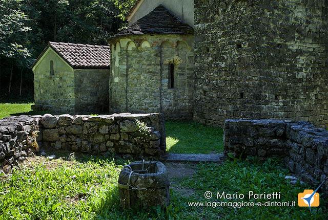 Chiesa di San Maurizio a Porlezza, resti del battistero
