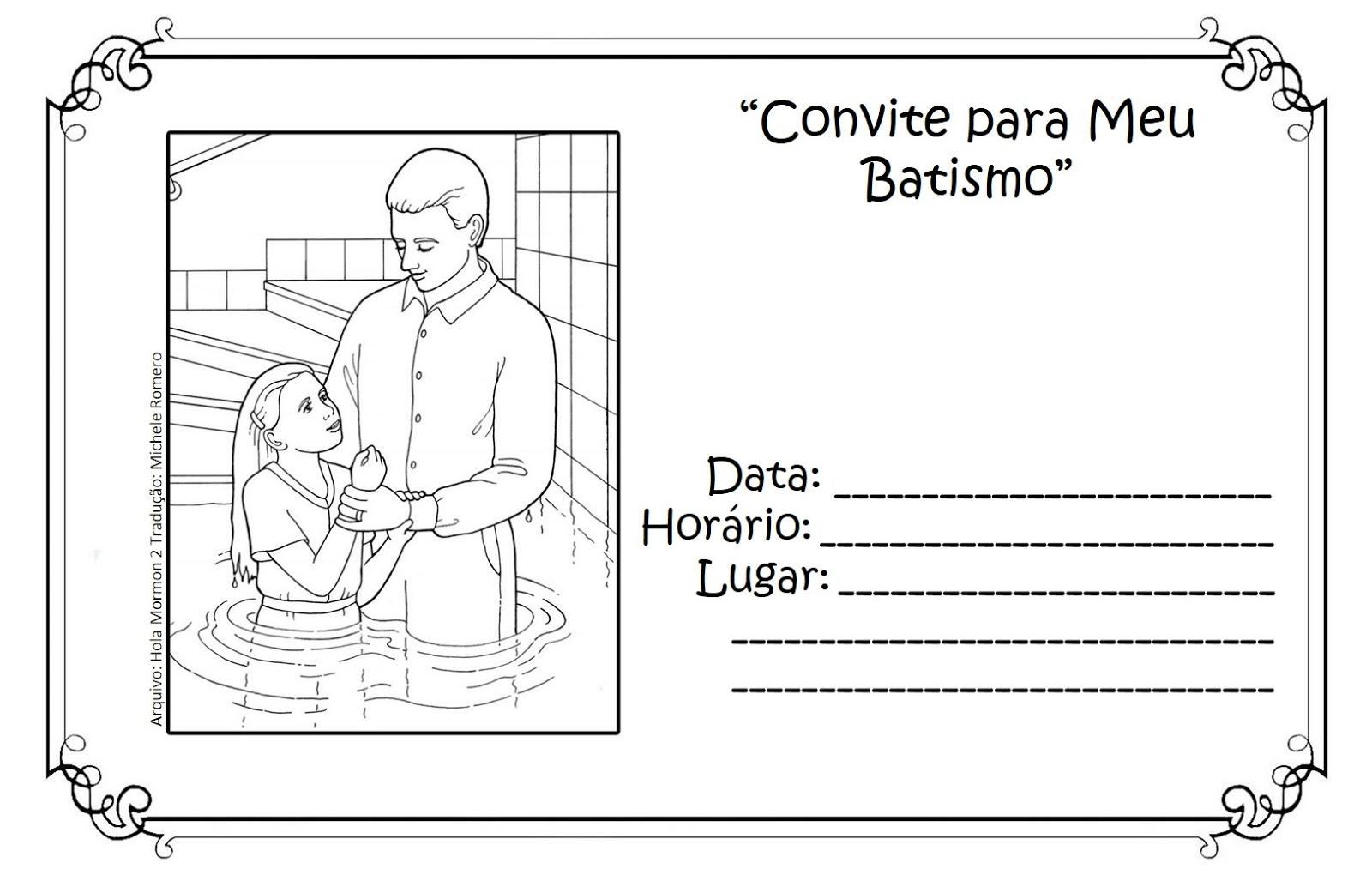 As Tontas Vao Ao Ceu Convite Para Batismo Menino E Menina