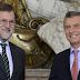 El presidente Mauricio Macri recibió en la Casa Rosada a su par de España