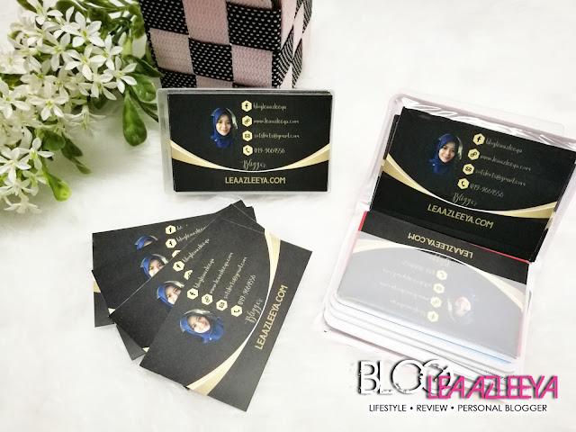 Name Card, Hadiah Dari Blogger Busyra Takiyudin