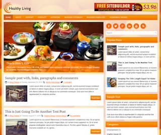 HealthyLiving Responsive Blogger Template