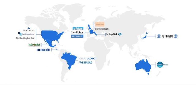 Landkarte mit verfügbaren Partnern eingezeichnet