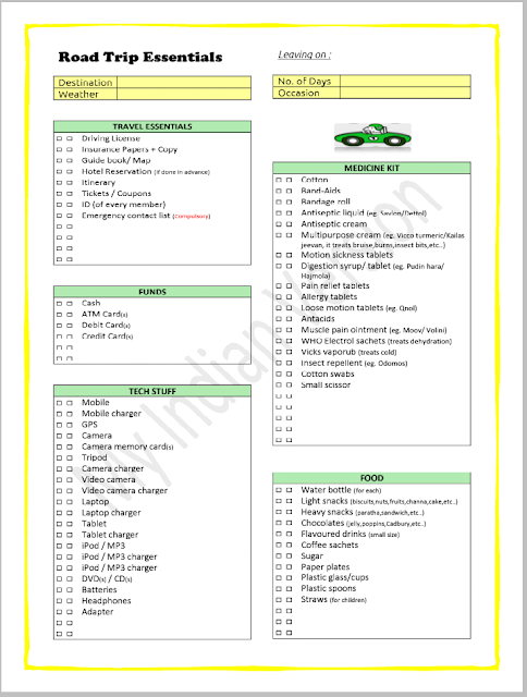 Now you can Plan, Organize, Pack and Enjoy your road trip.......Stress free!!