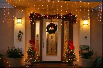 decorar la navidad por fuera, decorar con luces las paredes por fuera en el exterior de la casa