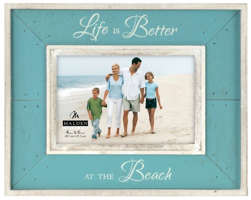 Wood Beach Photo Frame