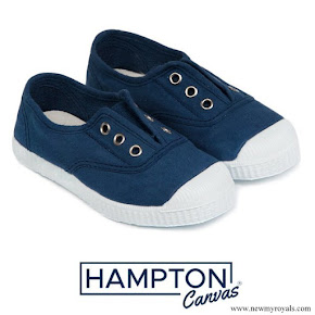 Princess Charlotte wore Hampton Canvas Plum style shoe