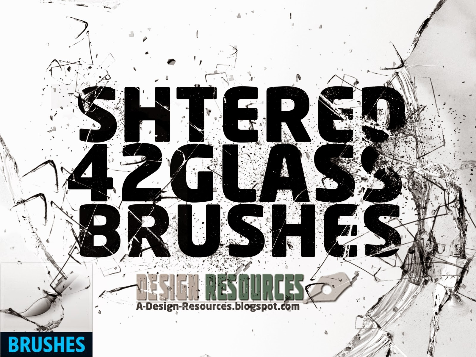 42 Shattered Glass brushes — Photoshop Add-ons