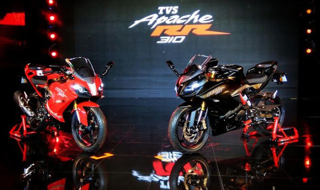 New 2018 TVS Apache RR 310 Red & Black color Hd Picture