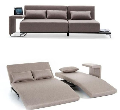 Sofa sectionals with sleeper for small spaces