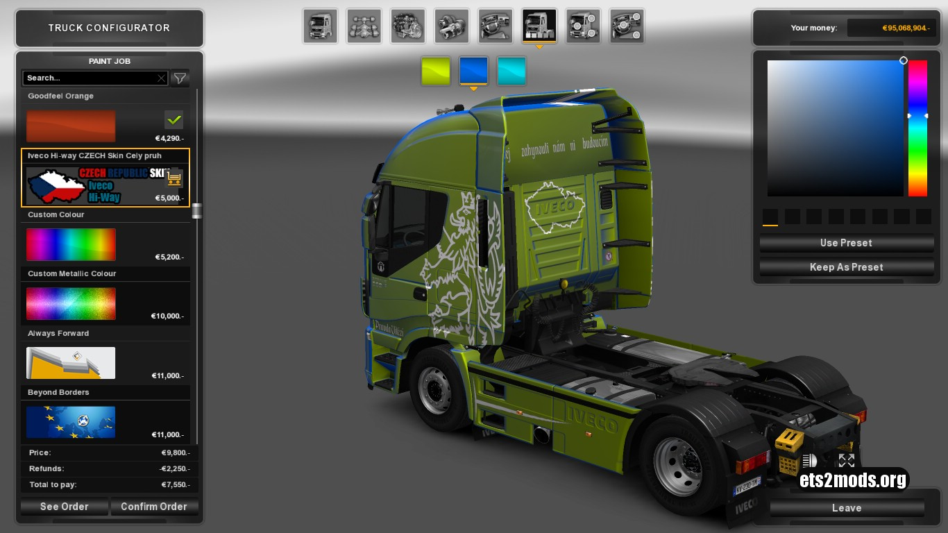 Iveco Hi-Way Czech Metallic Skin