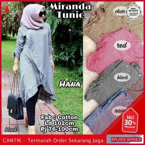 Jual RRJ005A192 Atasan Muslim Wanita Katun Miranda Tunik BMGShop
