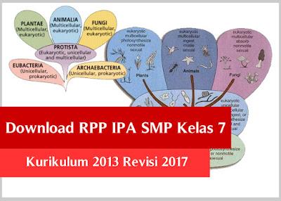 Download RPP IPA SMP Kelas 7 Kurikulum 2013 Revisi 2017
