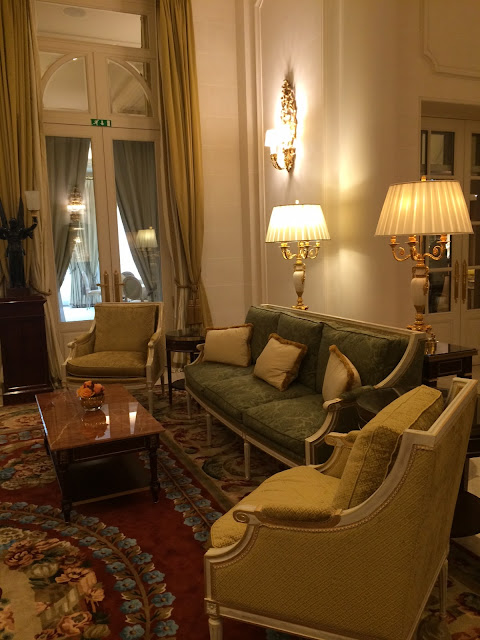 Ritz Paris seating area