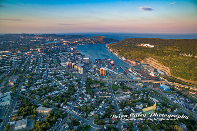Air Newfoundland - Sunset St John's by Brian Carey