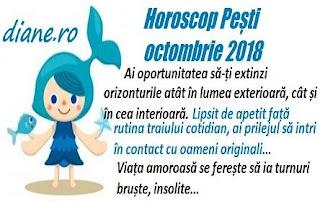 Horoscop Pești octombrie 2018